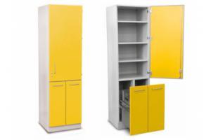 Шкаф для хранения медикаментов с выдвижными секциями