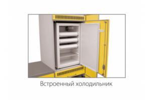 Шкаф для хранения медикаментов для установки встроенного холодильника